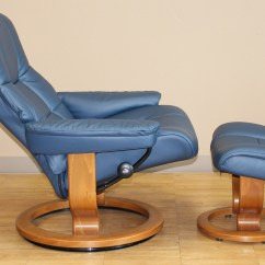 Blue Recliner Chair Folding Shower With Back Stressless Kensington Large Mayfair Paloma Oxford