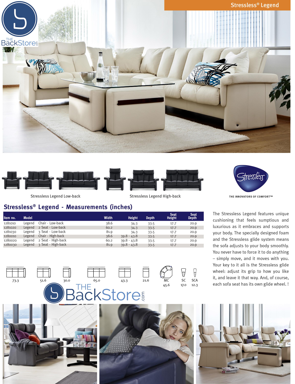low back sofa height beds for bedrooms ekornes stressless legend