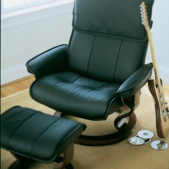 Recliner Vs Chair With Ottoman Plastic Covers For Wedding Stressless Admiral Paloma Leather And