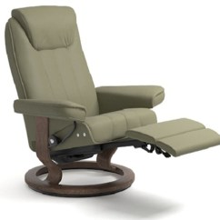 Reclining Chair And Ottoman Carp Fishing Low Stressless Bliss Recliners Chairs Ekornes Recliner Lounger - ...