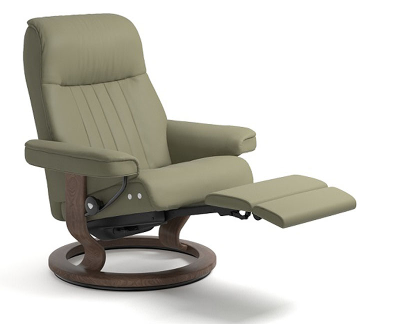 red chair and ottoman personalized director stressless crown legcomfort power footrest recliner - ekornes recliners ...