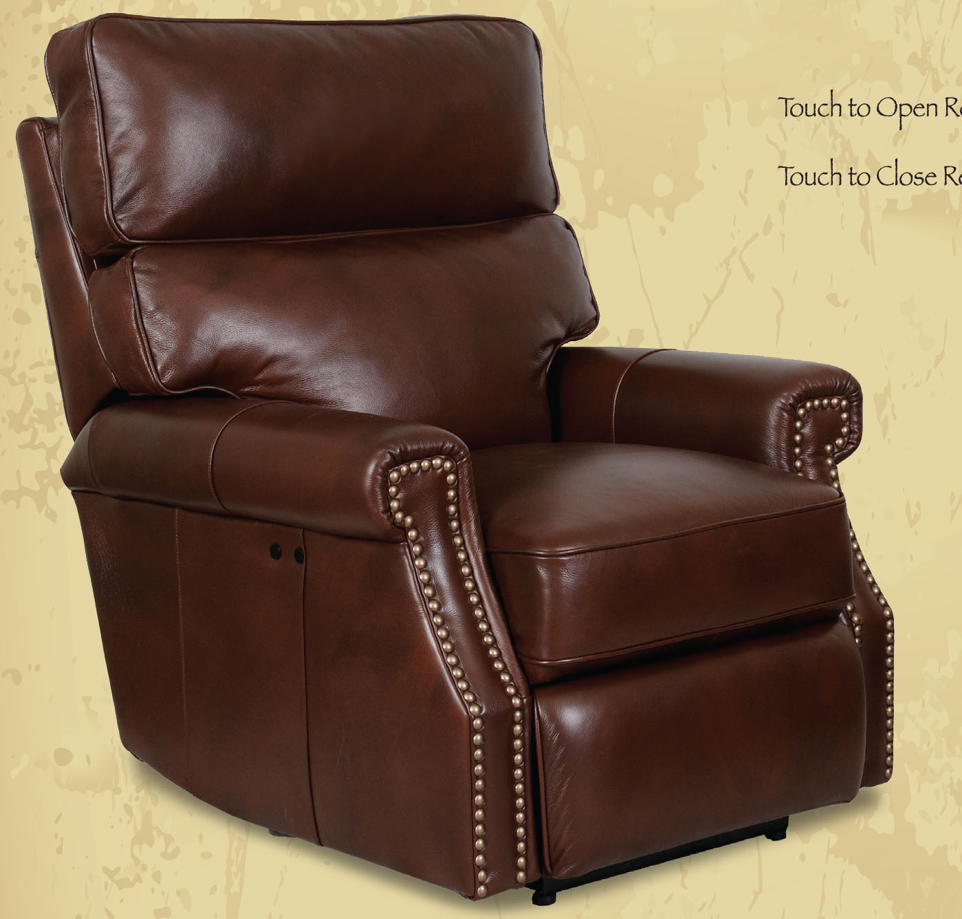 recliner chair leather purple dining cushions barcalounger lochmere ii