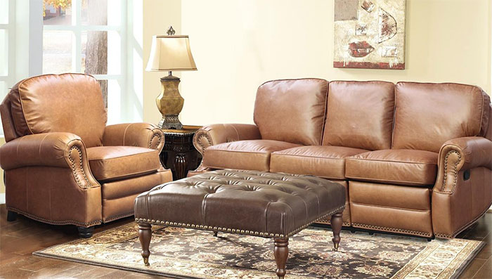 leather sofa cleaning kit fluffy pillows barcalounger longhorn ii recliner chair - ...
