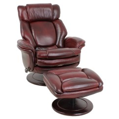 Reclining Chair With Ottoman Leather Iconic Office Barcalounger Lumina Ii Recliner And