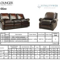 Reclining Sofa Leather Quality Singapore Barcalounger Premier Ii 2 Seat Loveseat ...
