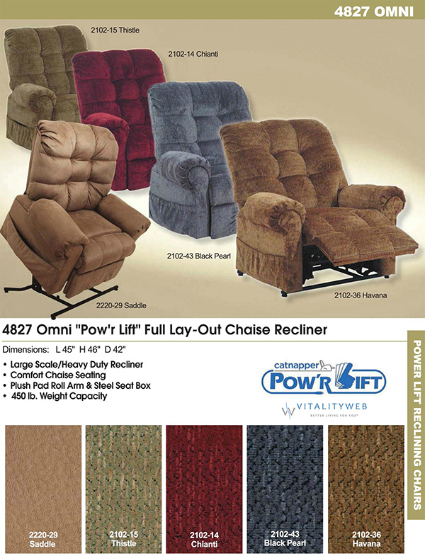 heavy duty lift chair canada kitchen chairs catnapper omni 4827 power recliner lounger to 450lbs