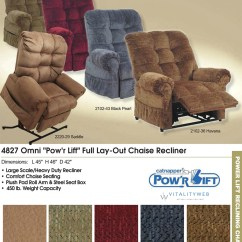 Heavy Duty Lift Chair Canada Make Your Own Bean Bag Catnapper Omni 4827 Power Recliner Lounger To
