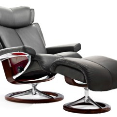 Ergonomic Chair And Ottoman Thomas Potty Mothercare Stressless Magic Signature Chrome Wood Base Recliner - Ekornes ...