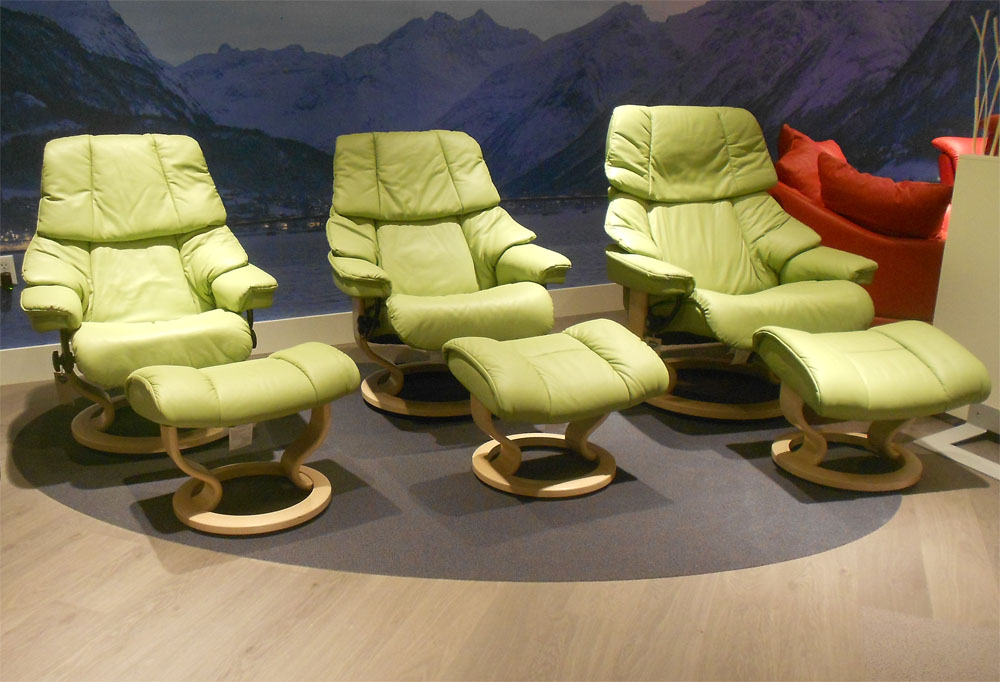 brown leather recliner chair house of orange rattan stressless paloma green 09490 by ekornes - chairs ...