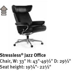 Ekornes Office Chair Serta Executive Warranty Stressless Jazz Desk By Seating Furniture Dimensions