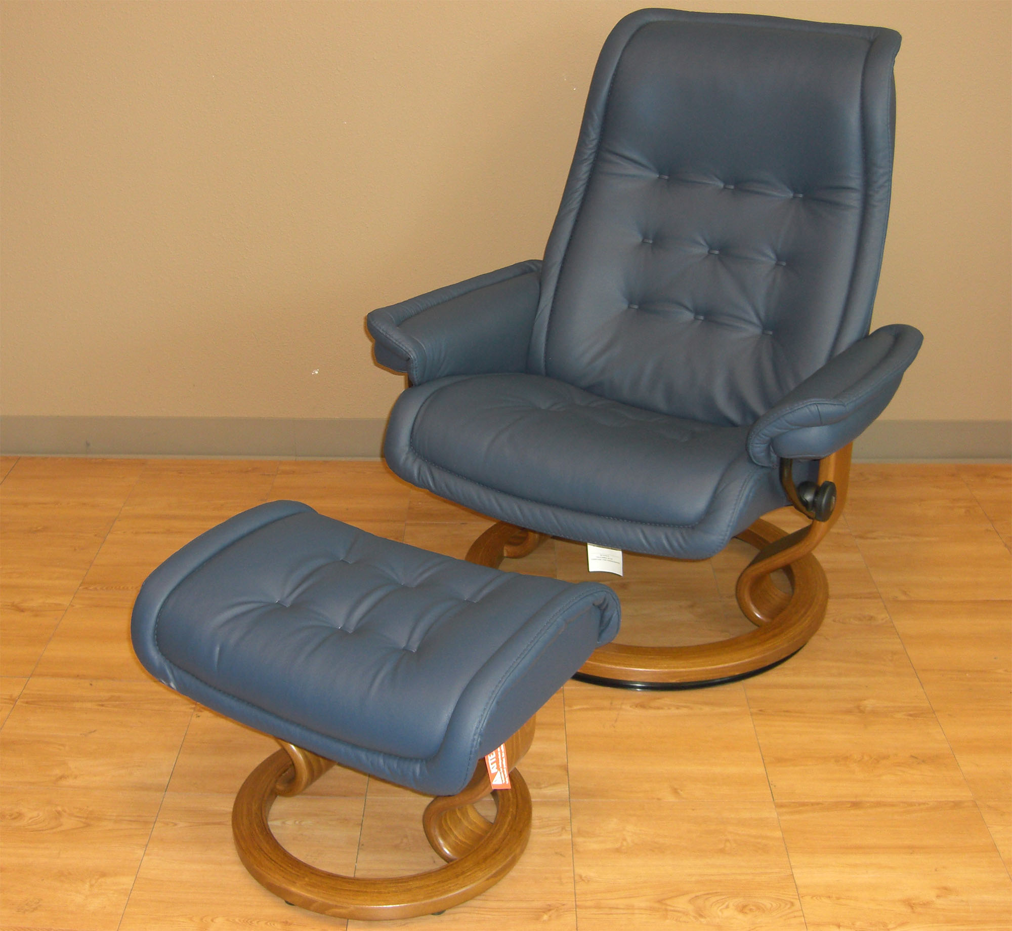Ekornes Chairs Stressless Paloma Oxford Blue 09418 Leather By Ekornes