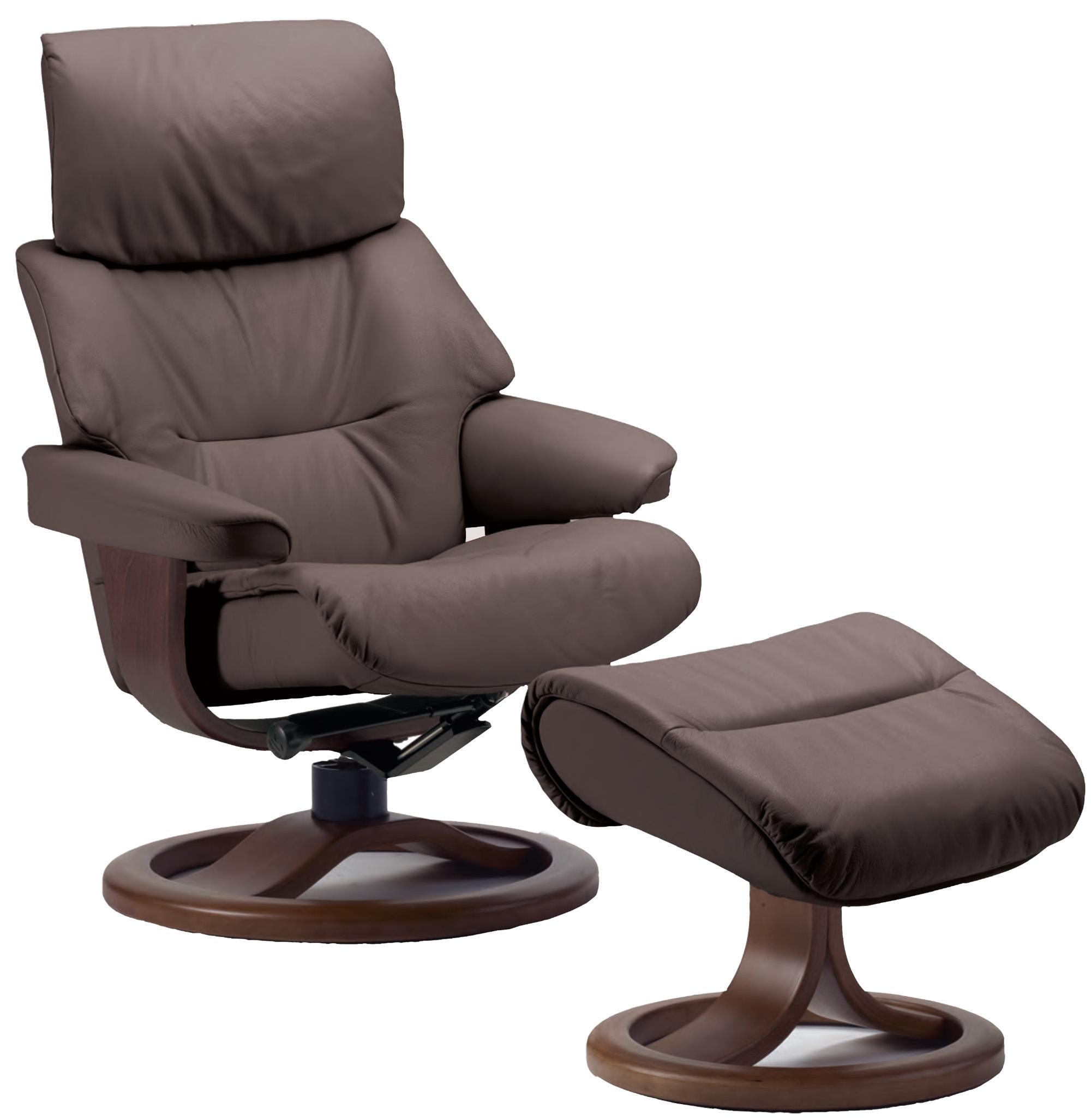 Fjords Grip Ergonomic Leather Recliner Chair + Ottoman