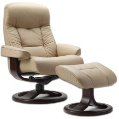 Reclining Chair With Ottoman Leather Office Fjords 215 Muldal Ergonomic Recliner