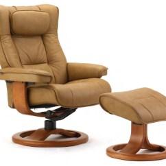 Ergonomic Chair Norway Teak Adirondack Fjords Regent Leather Recliner 43 Ottoman