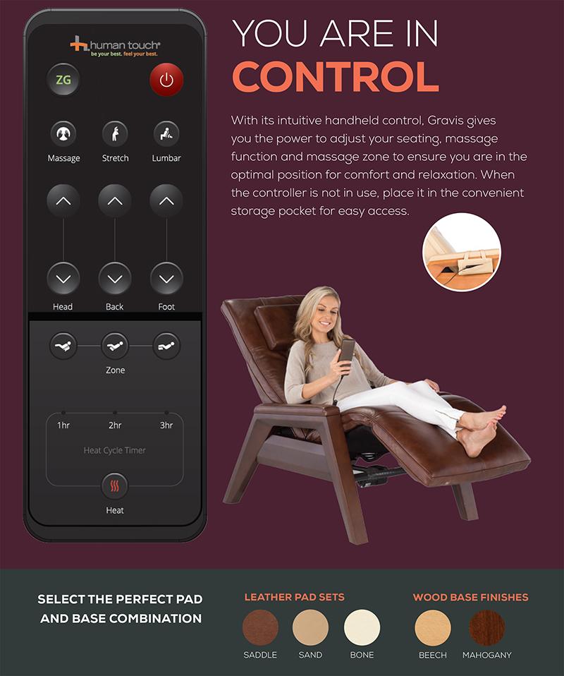 Gravis ZG Massage Chair Zero Gravity Recliner by Human Touch