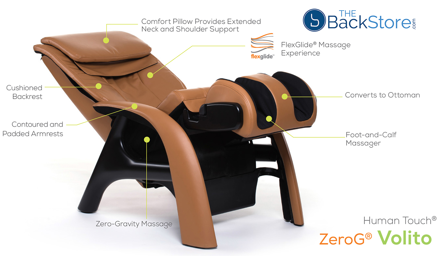 htt massage chair arm and ottoman human touch zerog volito zero gravity recliner
