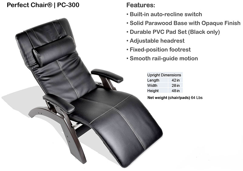 desk chair footrest pc game pc-300 power electric perfect zero-gravity recliner from human touch