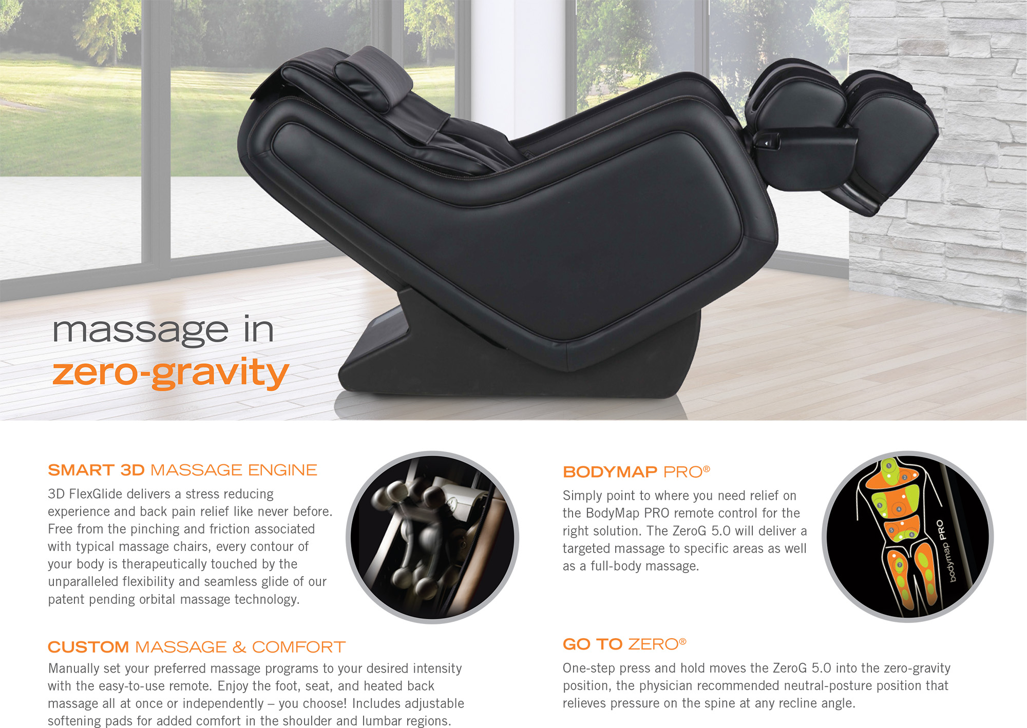 Office Chair Massager Zerog 5 Immersion Zero Gravity Massage Chair Recliner By Human Touch