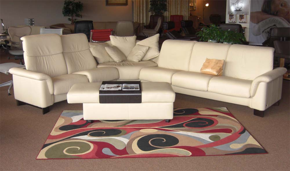 stressless paradise low back leather sofa loveseat by ekornes