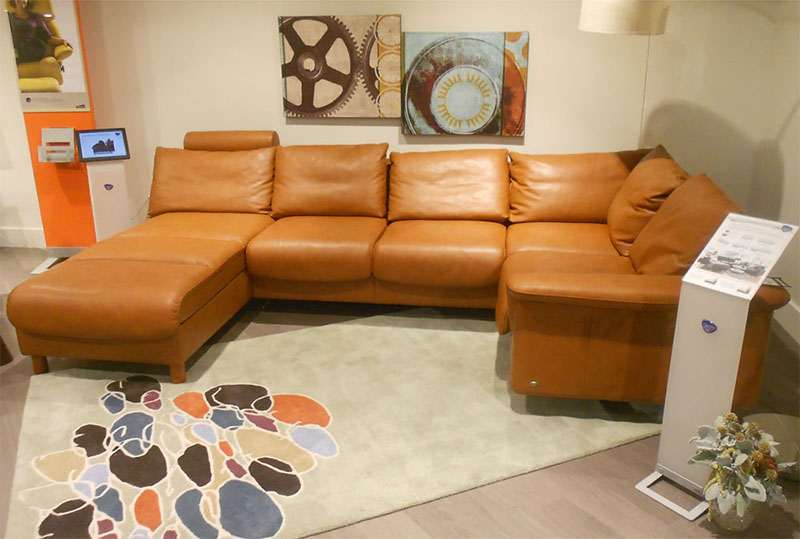 deep leather sectional sofa minotti hamilton cena stressless royalin tigereye by ekornes ...