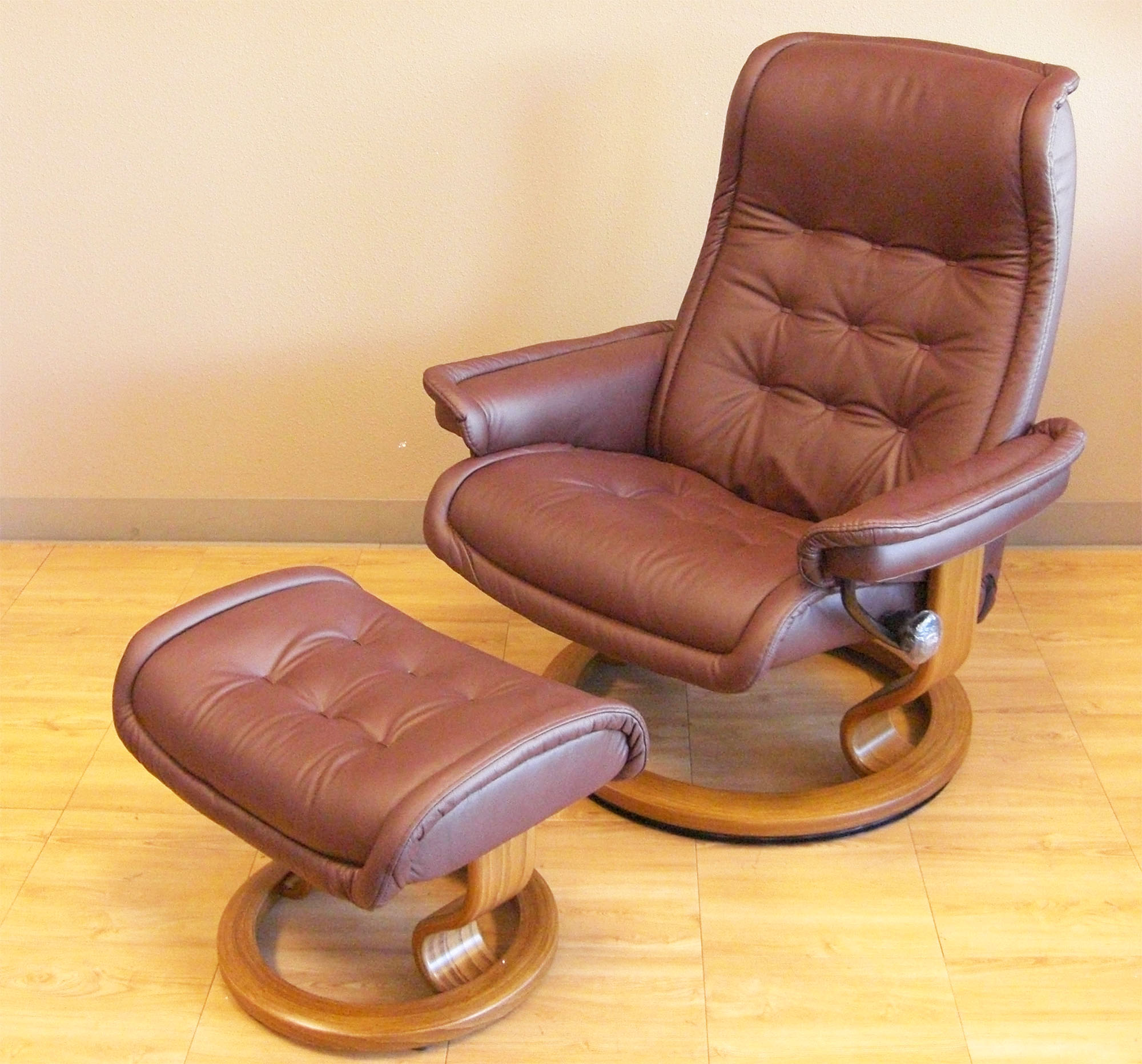 Ekornes Chairs Stressless Paloma Coffee 09433 Leather By Ekornes