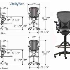 Ergonomic Chair Dimensions Comfy Dorm Chairs Herman Miller Aeron Stool Home Office Seating By