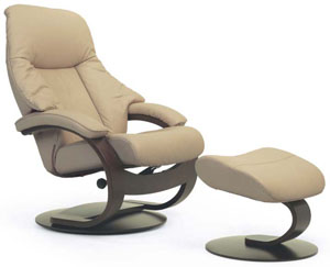 ergonomic recliner chair wood fjords giske leather c frame ottoman and scandinavian lounger