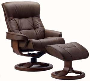 ergonomic recliner chair wooden office fjords 775 bergen leather ottoman and scandinavian lounger