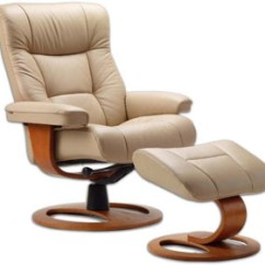 Ergonomic Recliner Chair Dining Seat Covers Amazon Fjords Manjana Leather Ottoman And Scandinavian Lounger