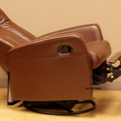 Glider Recliner Chair With Ottoman India Barcalounger Grissom Ii Swing Brown Leather Rocker In