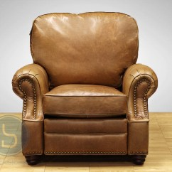 Leather Recliner Chairs Correct Posture In Chair Barcalounger Longhorn Ii