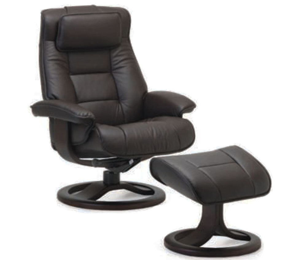 reclining chair with ottoman leather european touch pedicure manual fjords mustang ergonomic recliner 43
