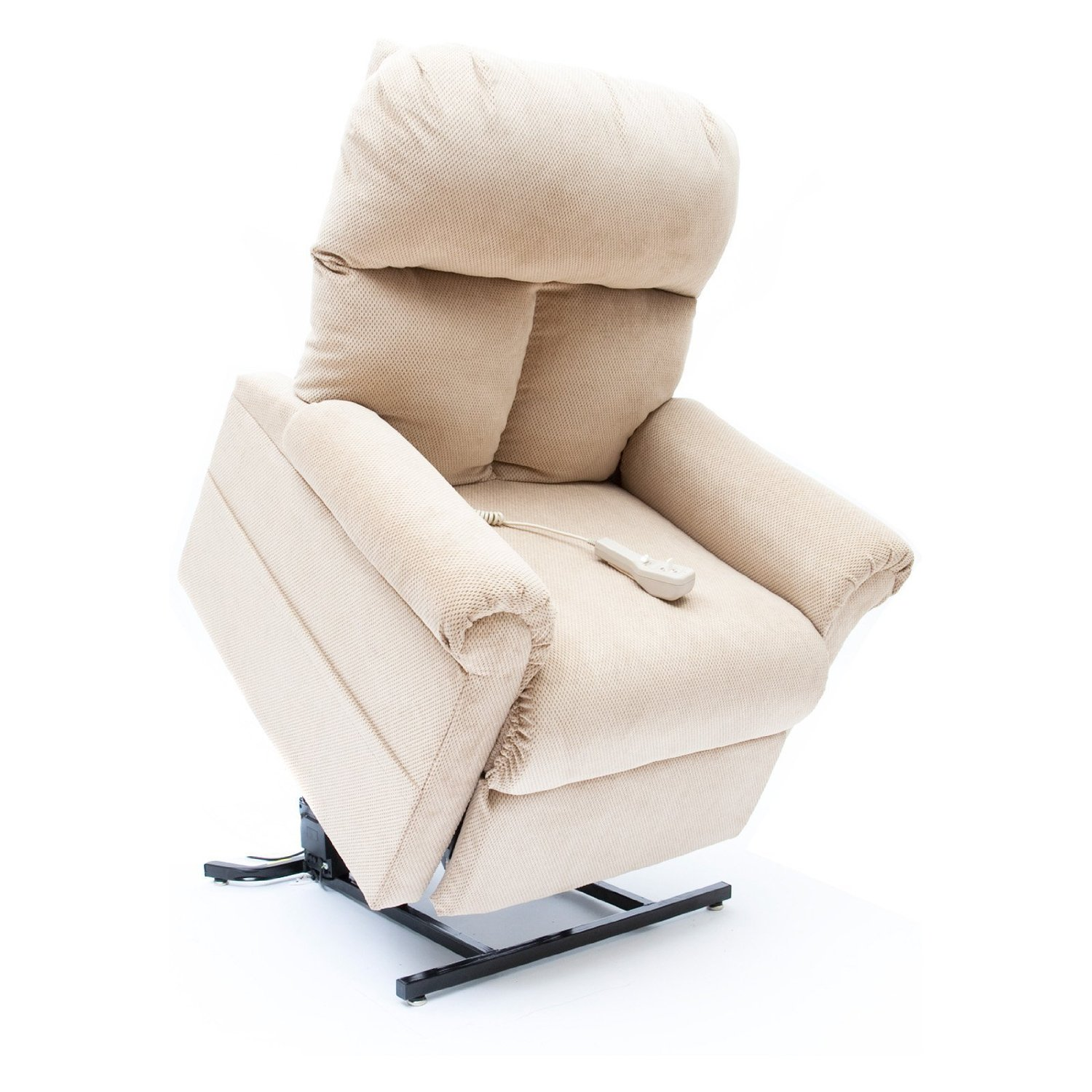 mega motion lift chairs papasan for sale new fawn tan fabric easy comfort lc 100 power chair