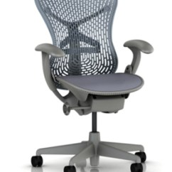 Posturefit Chair Antique Bankers New Herman Miller Mirra Basic Ergonomic Computer Home Office - Blue Fog | Ebay