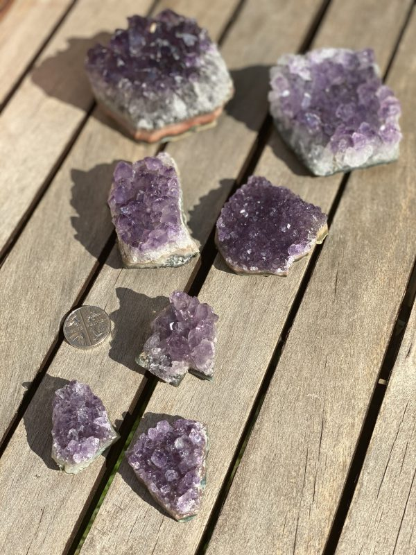Amethyst Clusters (all sizes) wiht 5p