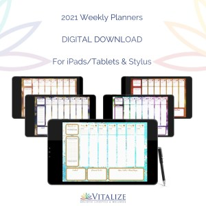 2021 Weekly Planners – DIGITAL DOWNLOAD (For iPads/Tablets & Stylus)