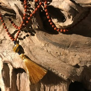 Handmade Crystal Mala Bead Necklace for Mantra Meditation – Peace & Happiness