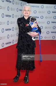 Jacqueline Wilson with Parsnip the Pug