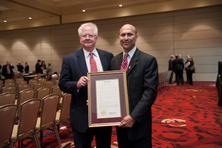 The Texas A&M University System Board of Regents on Aug. 8 honored Indra K. Reddy, Ph.D., for his outstanding leadership as the founding dean of the Texas A&M Rangel College of Pharmacy.