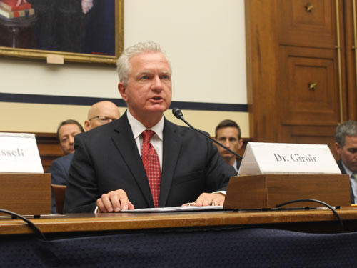 photo of Giroir at House hearing