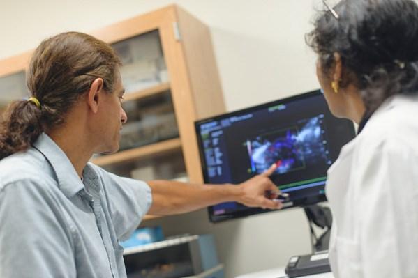 Faculty member mentors medical student