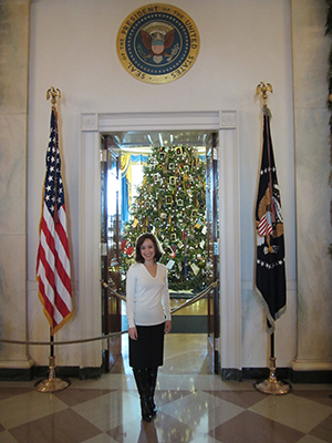 Elizondo at the White House following a meeting.