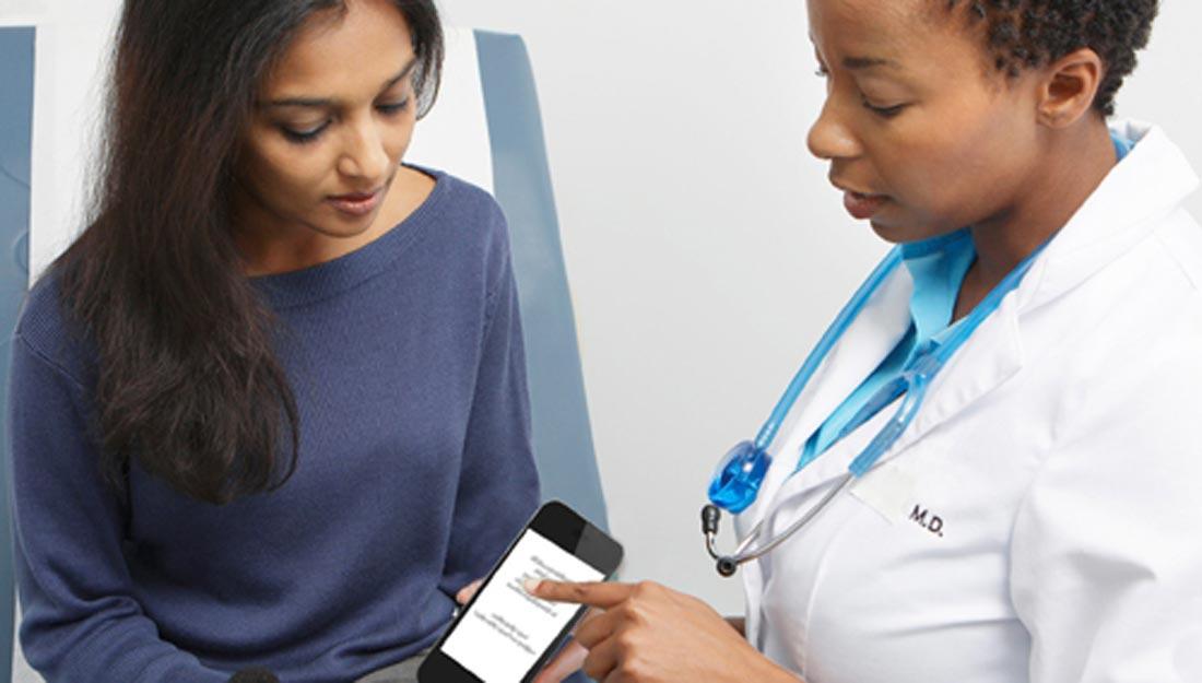 Doctor patient talking