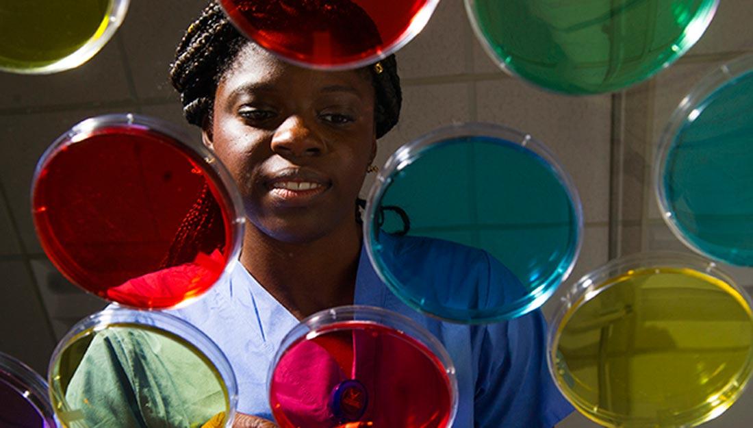 Esther Oluwo, a third-year dental student