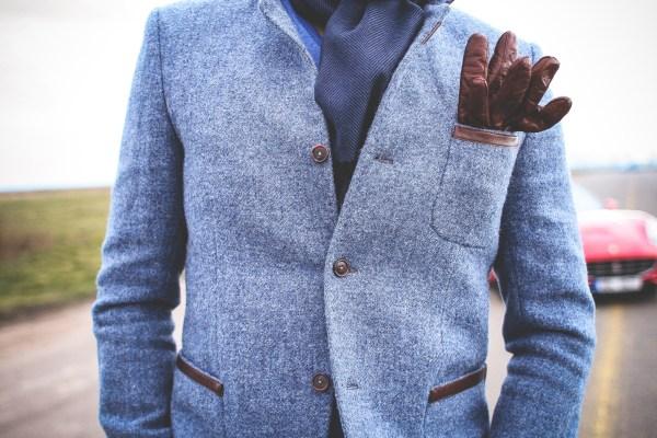 Gentleman in a blue jacket