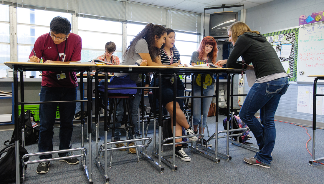 Teens at Standing Desks