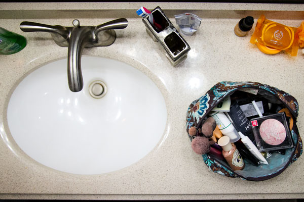 makeup habits making you sick - storing makeup in the bathroom