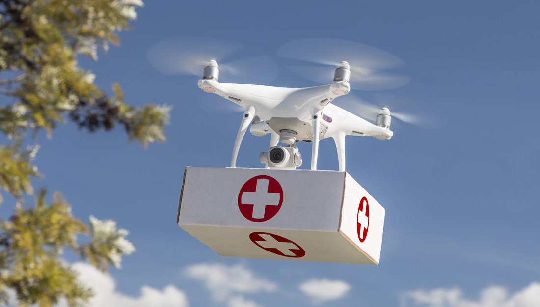 Drone care: Researchers study proposed health care delivery method
