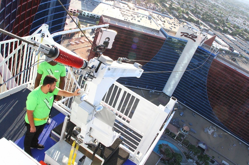 how much does a chair cost graco convertible high las vegas zip line takes visitors to new heights: voodoo opens at rio | vital blog