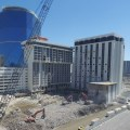 The monaco tower at right goes down june 14 the 17 story monte